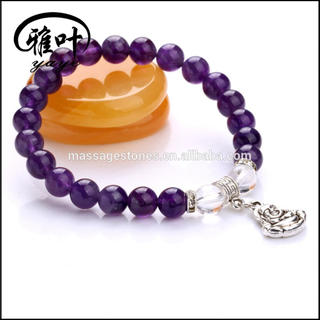 Chakra Beaded Buddha Spiritual Bracelet with 8mm Beads