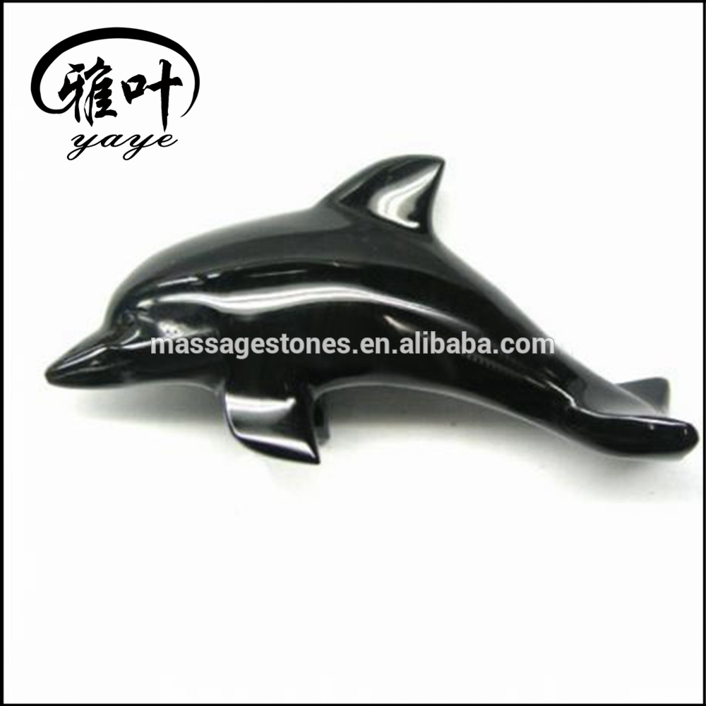 Hand Carved Natural Gemstone Animal Carvings Black Obsidian Carvings