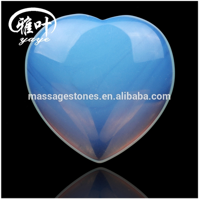 Heart Shaped Polymer Impregnated Magnifying Opal Heart Gemstones Heart