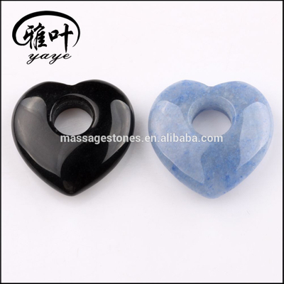 Customized Drilled Hole Heart Shape For Earring Making