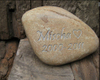 "3-4"" Pet Memorials Dog Cat Memorials personalised Engraved Stone"