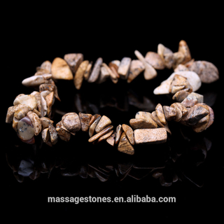 Natural and Beautiful Gemstone Picture Jasper Ernegy Bead Bracelet