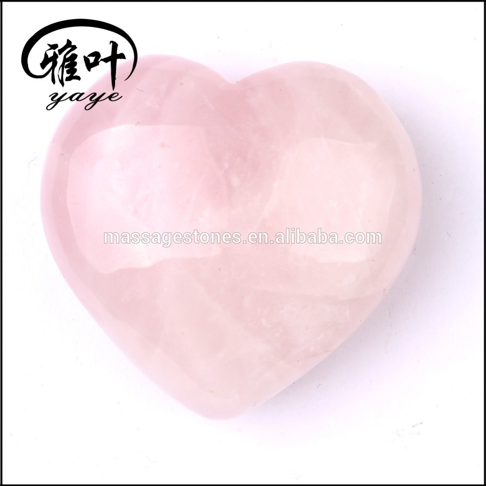 Rose Crystal Quartz Hearts for Wedding Giveaway Gifts/Wedding Sourveirs