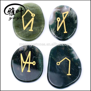 Wholesale Engraved 4 Archangel Palm Stone
