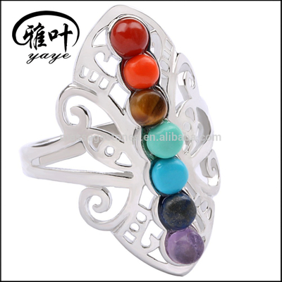 Bulk Gemstones Ring Chakra Stone HealingRing for Gifts