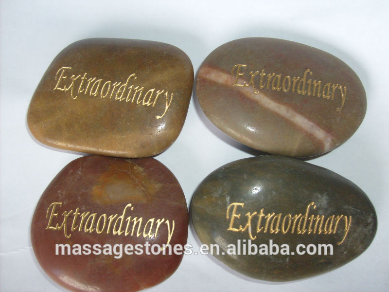 engraved word stones river rock pebble stones