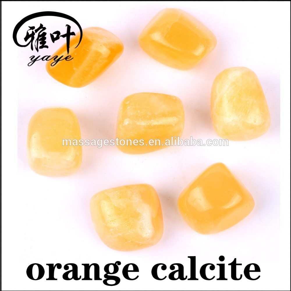 Bulk Wholesale Tumbled Stones Natural Stones Orange Calcite Tumbled Stones