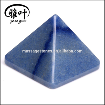 Natural Gemstones Pyramids Blue Aventurine