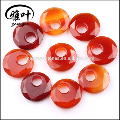 Dyed Carnelian Customized Facetd Round Shape For Jewelry Making