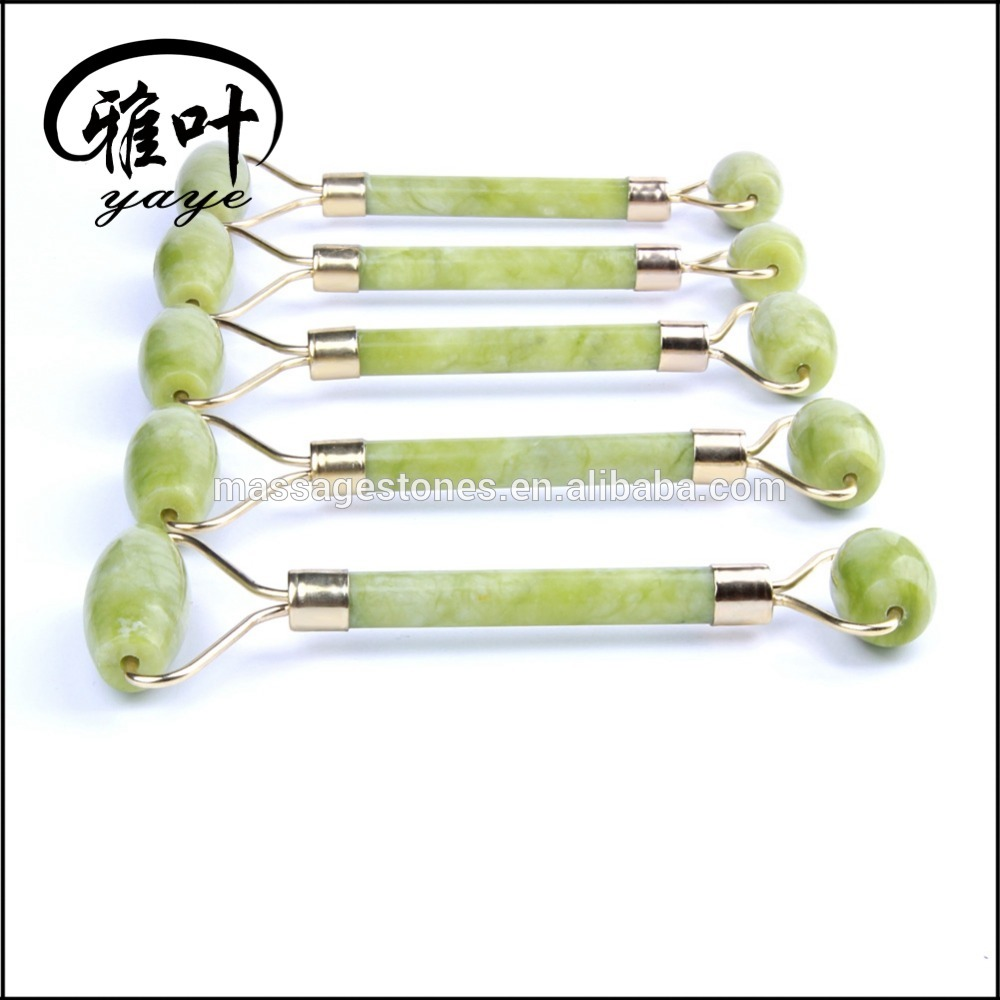 Amazon hot selling massage jade roller 100% natural skin care jade facial roller