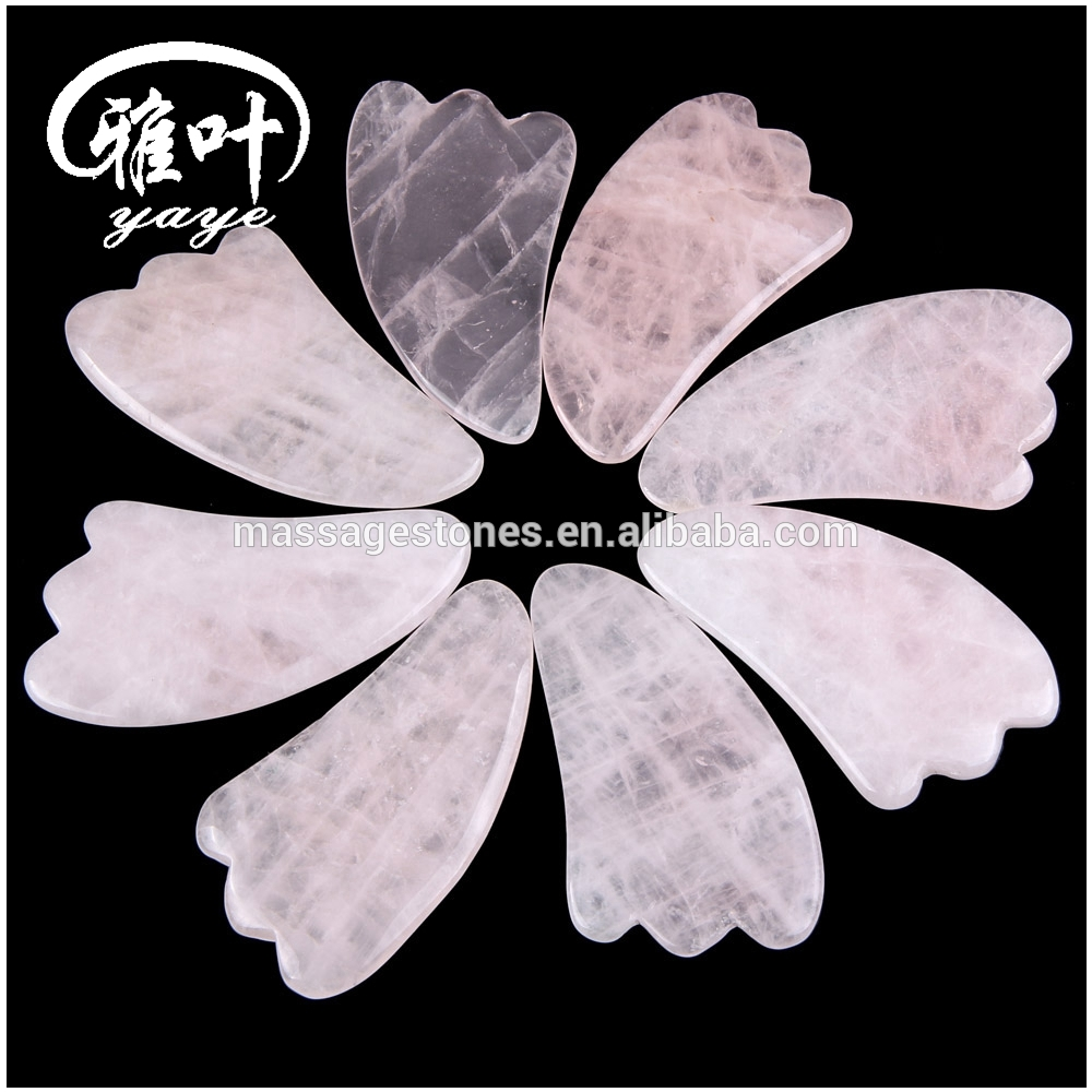 Chinese Natural Jade Stone Guasha Massage Heart Shape Gua Sha Jade